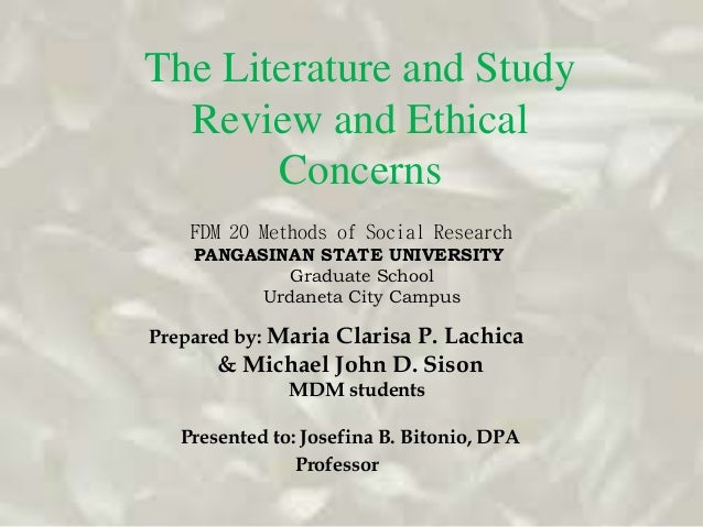 ethics of literature review pdf