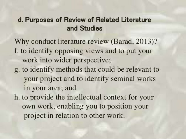 review of related literature about spinach How to write a review of related literature with these 3 steps, you can develop a perfect paper with a clear structure and proper format.