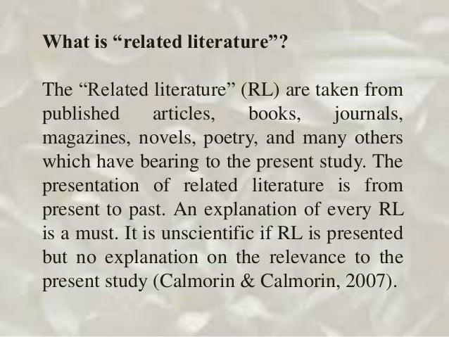 define related literature