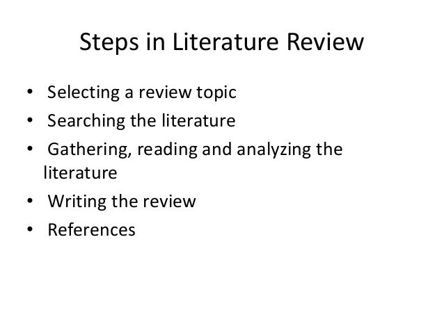 By using first literature review forms  followed by summary tables  the researcher can construct theoretical models based on past research to generate     Department of Real Estate and Construction Management   University