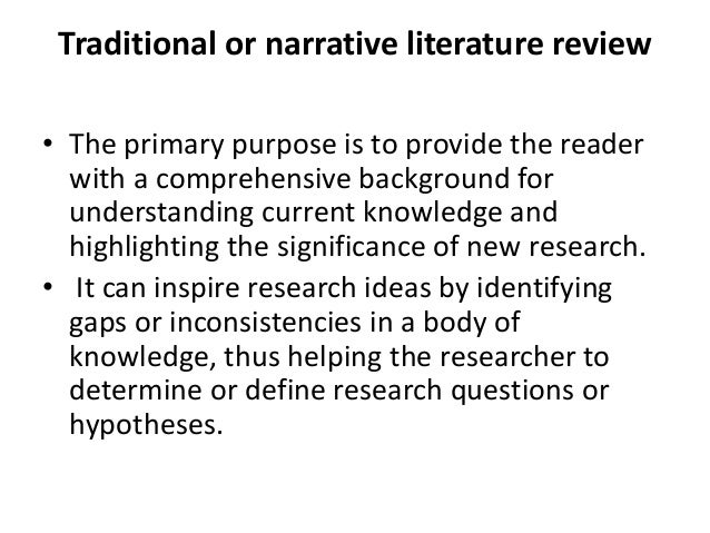 traditional review of literature