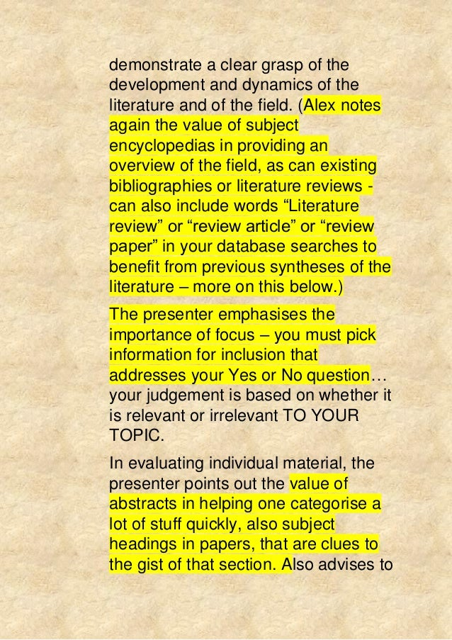 writing a systematic review nursing article
