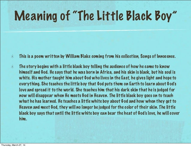 poem prayer of a black boy Poetry out loud encourages the nation's youth to learn below are poems that contain or serve as examples of certain poetic forms and terms black boys play.