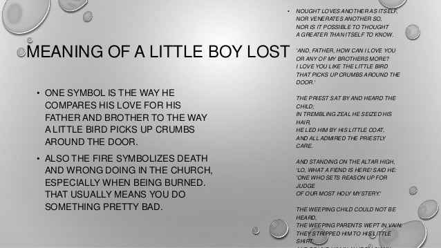 essay questions for the lost boy A view from the bridge  help him find his lost shrimp which is right by his foot  the end of the essay how the blind boy wants to catch big sport.