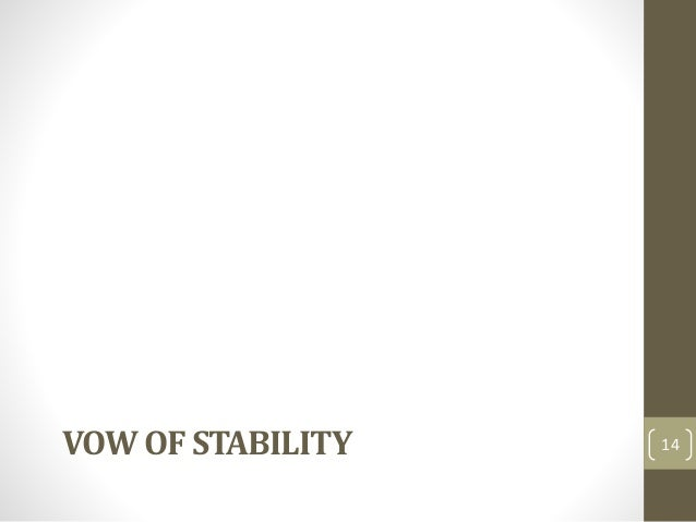 VOW OF STABILITY 14