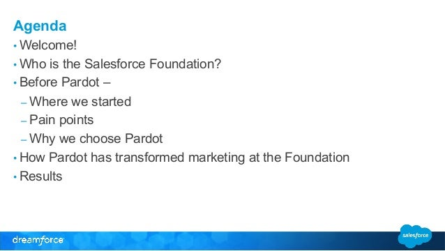The Little Engine That Could: How the Salesforce Foundation Markets with Pardot Slide 3