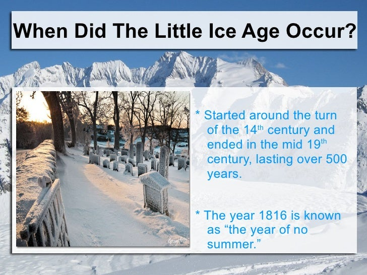 What will be the effects of a mini ice age in the US