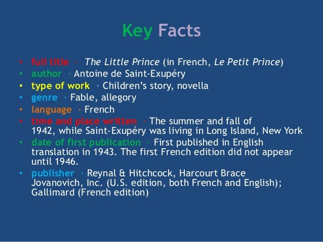 the little prince summary full story Complete summary of antoine de saint-exupery's the little prince enotes plot summaries cover all the significant action of the little prince.