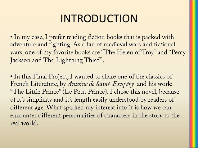 Essay about the little prince