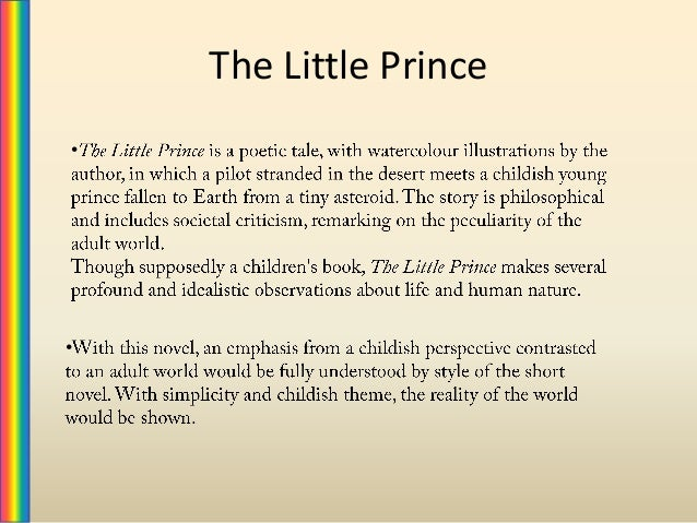 an analysis of the little prince Our favourite lines from the eternal question mark that is antoine de saint- exupéry's the little prince, one of france's most famous and.