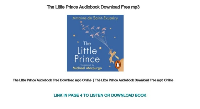 the little prince audiobook mp3 free download