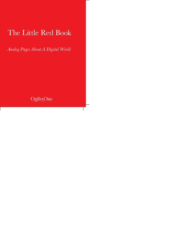 The Little Red BookAnalog Pages About A Digital World                INTRODUCTION                   -1-