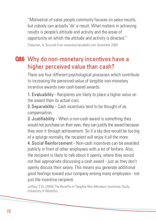 Are non monetary rewards in the workplace