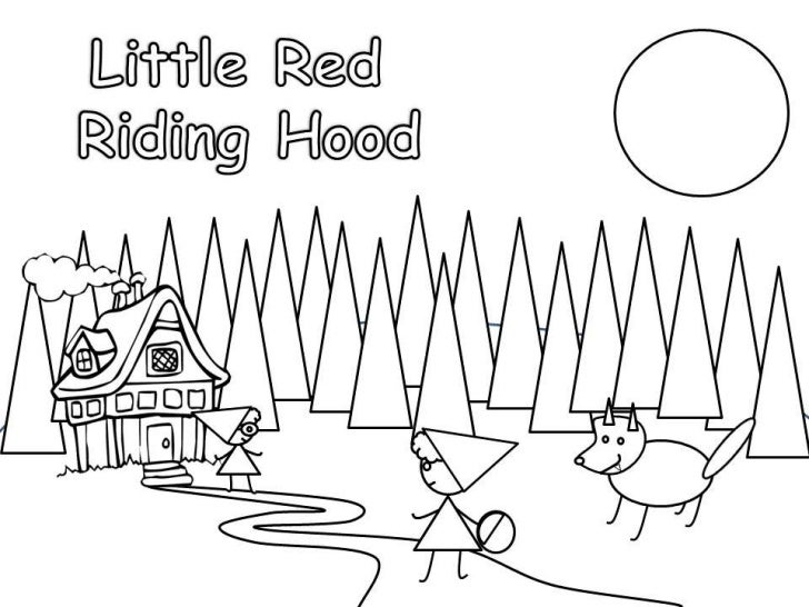 The little red riding hood the book coloring pages dots