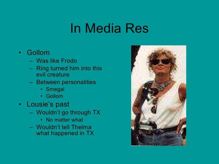 In Media Res <ul><li>Gollom  </li></ul><ul><ul><li>Was like Frodo  </li></ul></ul><ul><ul><li>Ring turned him into this ev...