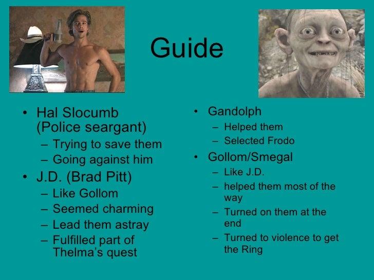 Guide <ul><li>Hal Slocumb  (Police seargant) </li></ul><ul><ul><li>Trying to save them </li></ul></ul><ul><ul><li>Going ag...