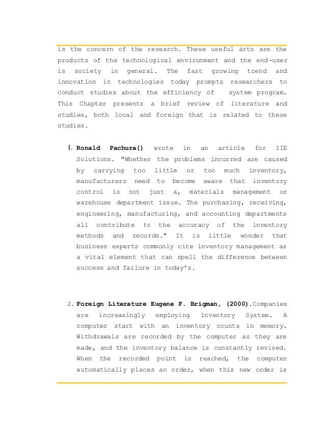 Local related studies about pos system