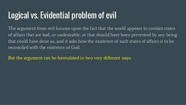 Natural Vs Moral Evil Philosophy