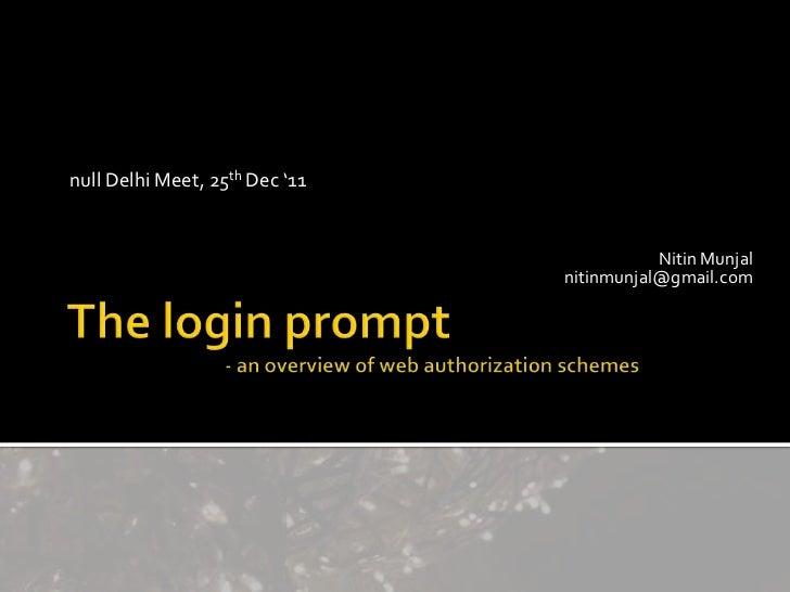 null Delhi Meet, 25th Dec '11                                           Nitin Munjal                                nitinm...