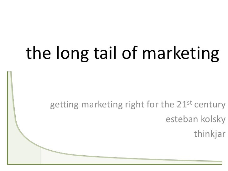 the long tail of marketing   getting marketing right for the 21st century                                esteban kolsky   ...
