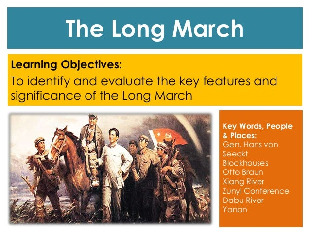 the long march Watch playhouse 90 - season 3, episode 4 - the long march: in the marines, culver is the capable assistant to his good friend, capt al mannix, a fellow reservist and the company.