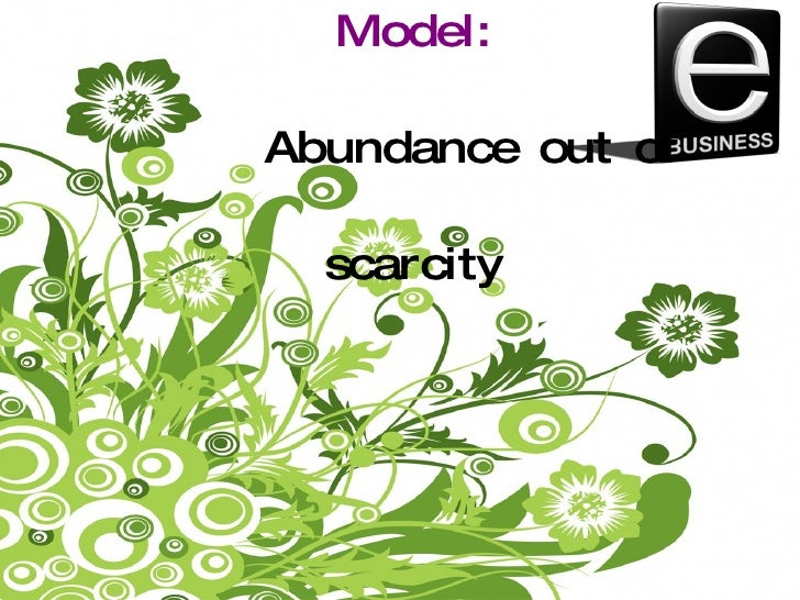 The Long Tail Model: Abundance out of scarcity By Gwenaelle Doceul MBA