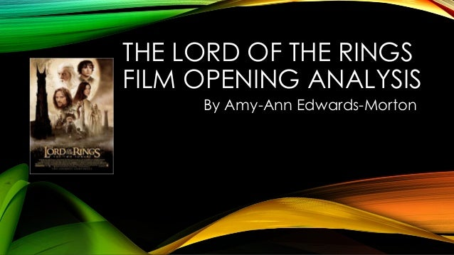 an analysis of the lord of the rings by jrrtolkien Find great deals for j r r tolkien: the lord of the rings by j r r tolkien (1999, cd, unabridged) shop with confidence on ebay.