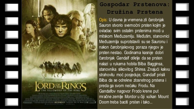 Lord Of The Rings  Sa Prevodom
