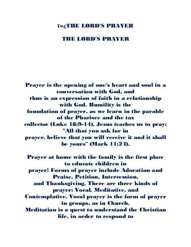 image regarding Printable Copy of the Lord's Prayer identify The lords prayer