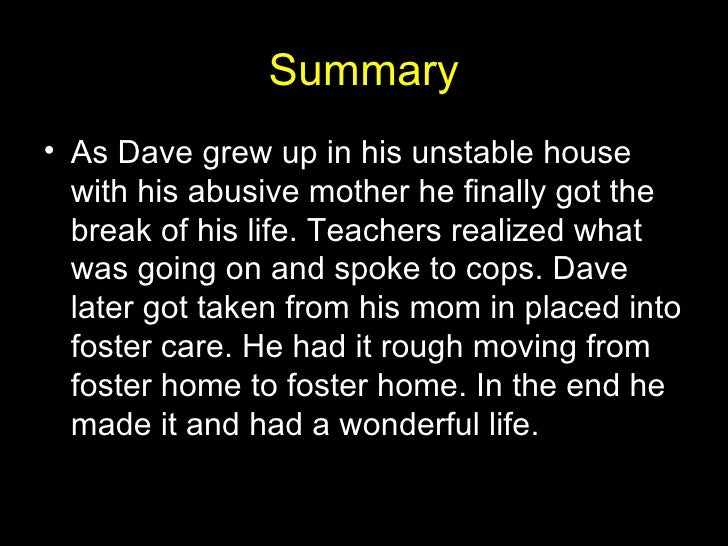 """the lost boy chapter summary dave pelzer The lost boy is the the book i read for quarter three was """"the lost boy"""", by dave pelzer i couldn't even get through the first chapter without."""