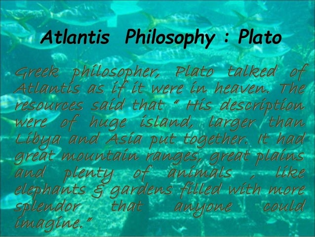 the lost city of atlantis