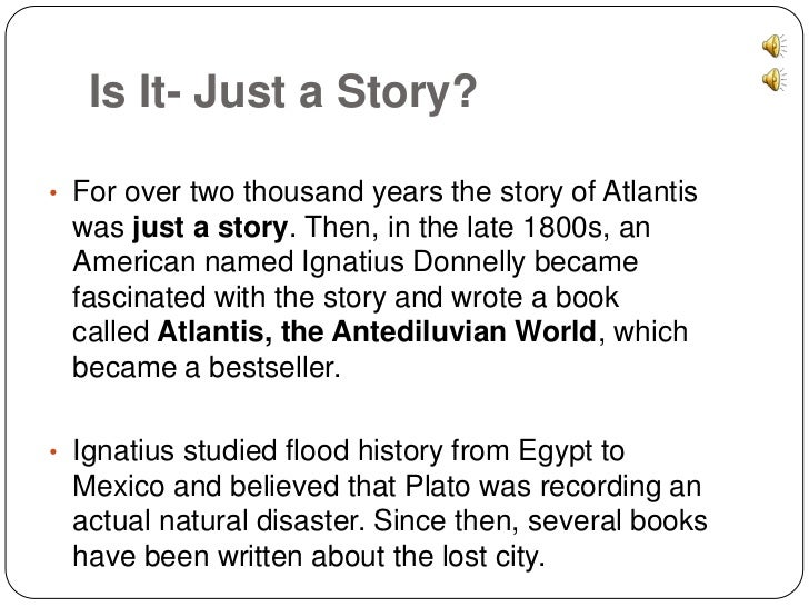 History - The Lost City of Atlantis