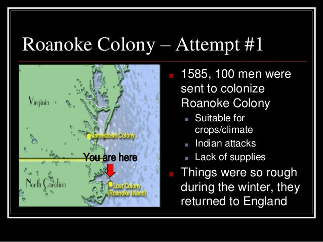 thesis for the lost colony of roanoke