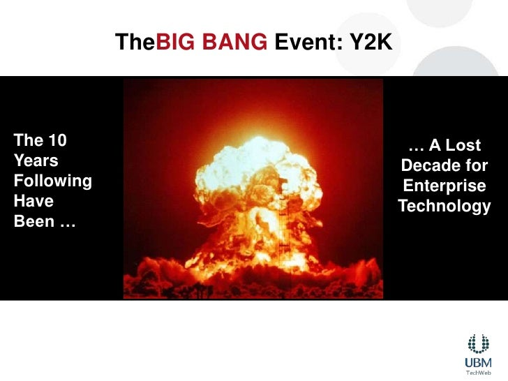 TheBIG BANG Event: Y2K<br />The 10 Years Following Have Been …<br />… A Lost Decade for Enterprise Technology<br />