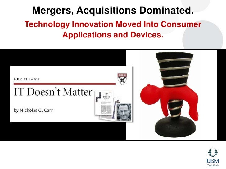 Mergers, Acquisitions Dominated.<br />Technology Innovation Moved Into Consumer Applications and Devices.<br />