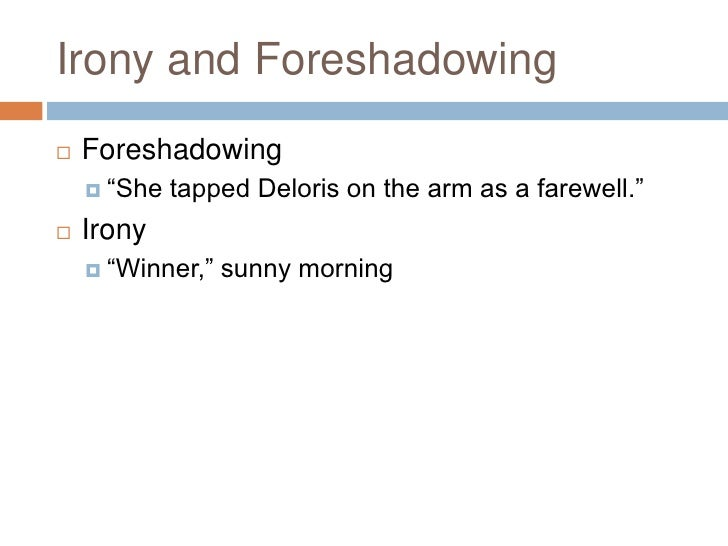 the lottery foreshadowing worksheet