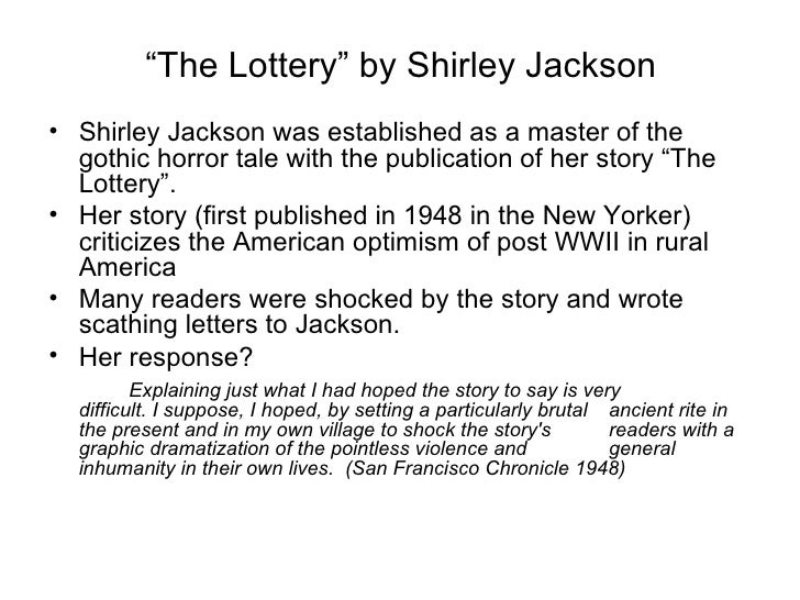 The lottery shirley jackson conflict offert mall word