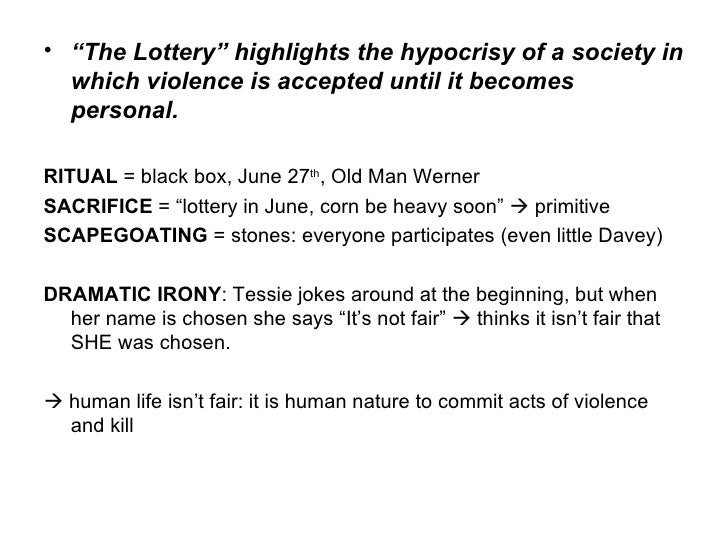 irony in the lottery