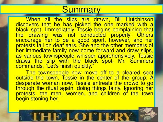 The story the lottery summary