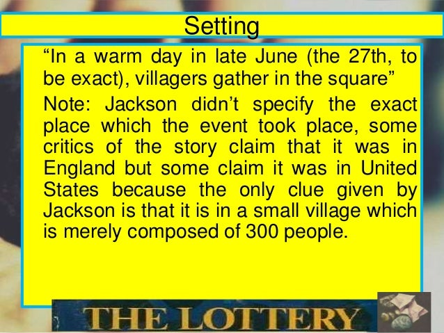"the lottery foreshadowing essay The lottery"" ""the lottery"" by shirley jackson is a story of an unusual town caught in a trap of always following tradition, even when it is."