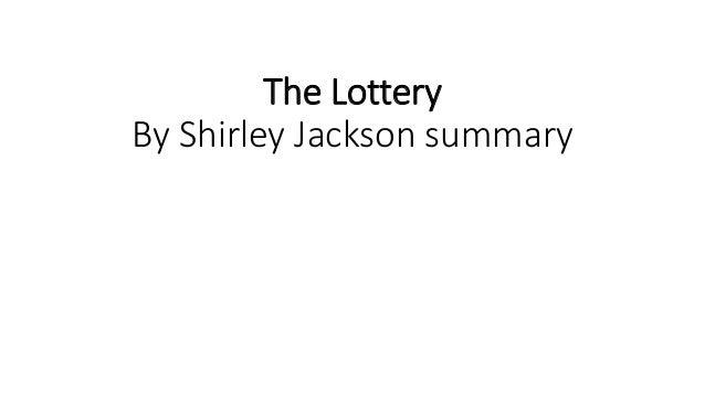 the lottery jackson summary