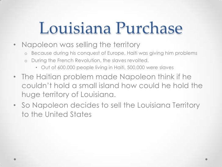 Louisiana Purchase Natural Resources