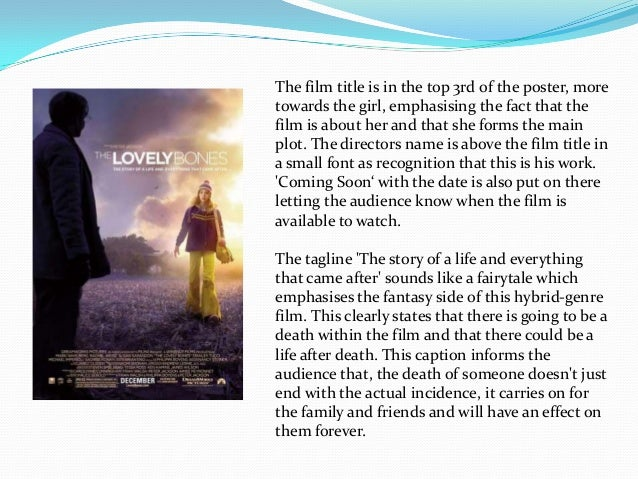 the lovely bones poster analysis the