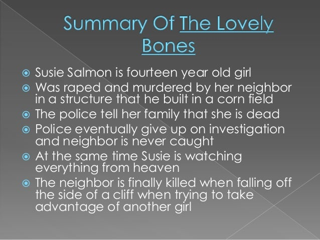 Book report the lovely bones