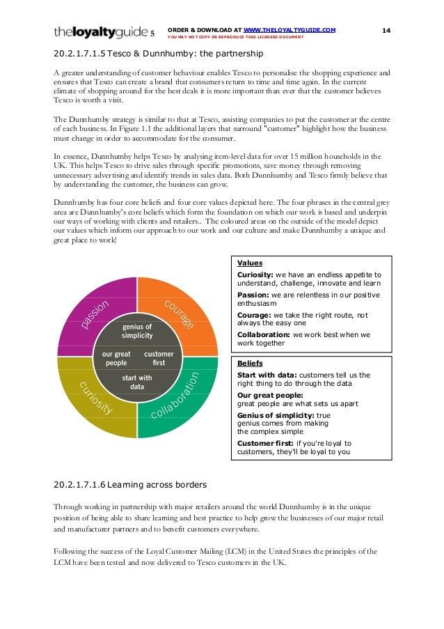 DUNNHUMBY TESCO PDF