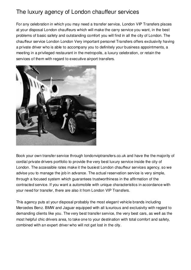 The Luxury Agency Of London Chauffeur Services