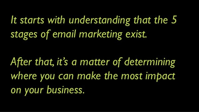 How To Build an Email Marketing Machine