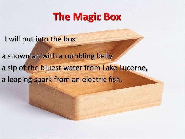 the magic box. Black Bedroom Furniture Sets. Home Design Ideas