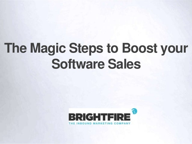 The Magic Steps to Boost your Software Sales