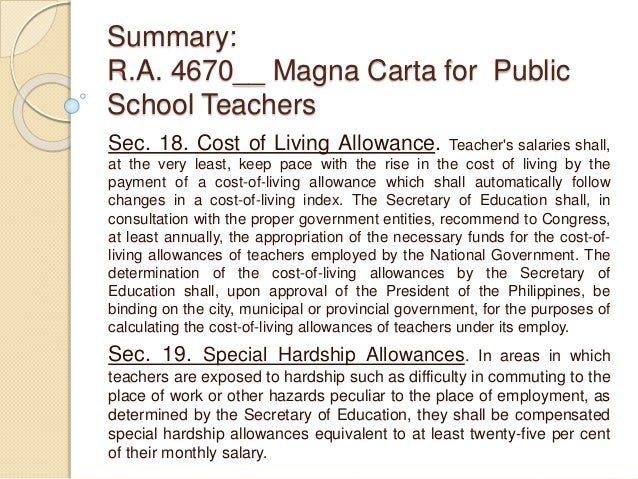 magna carta for philippine public school Republic of the philippines supreme court manila second division office of the ombudsman, petitioner, - versus- pedro delijero, jr, respondent gr no 172635 present such as the investigating committee of the deped mentioned in section 9 of the magna carta for public school.